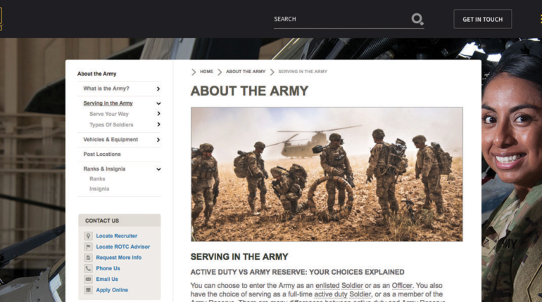 Redesigning GoArmy.com for AMRG